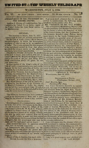 United States Weekly Telegraph, July 5, 1830