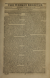 The Weekly Register, June 26, 1813