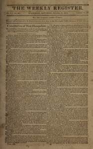 The Weekly Register, October 17, 1812