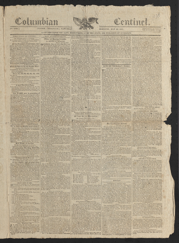 Columbian Centinel, May 20, 1815