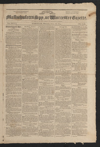 Massachusetts Spy, or Worcester Gazette, April 26, 1815