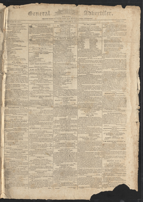 General Advertiser, January 27, 1813