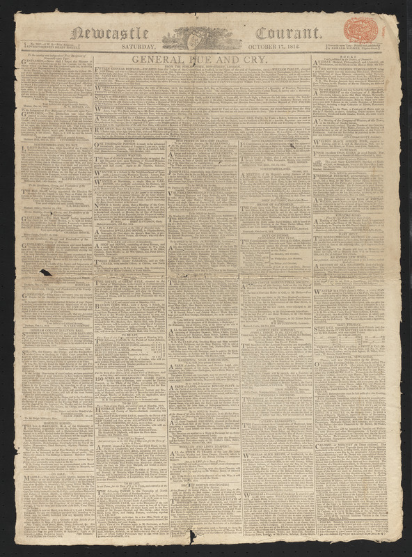 Newcastle Courant, October 17, 1812