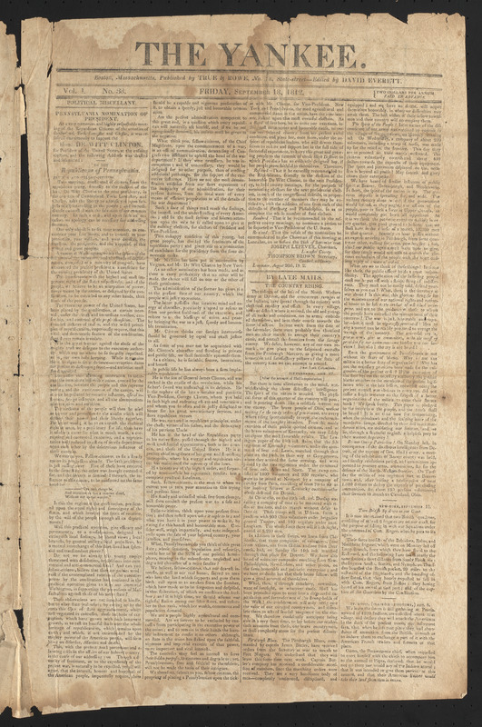 The Yankee, September 18, 1812