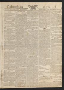 Columbian Centinel, September 16, 1812