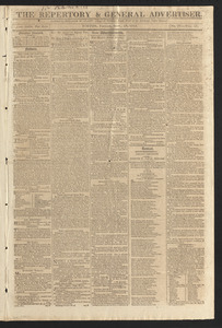 The Repertory & General Advertiser, September 11, 1812