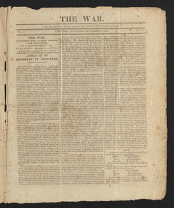 The War, September 5, 1812