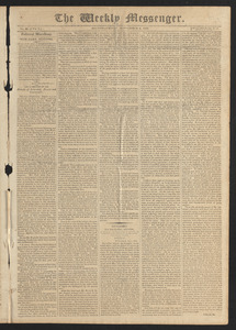 The Weekly Messenger, September 4, 1812
