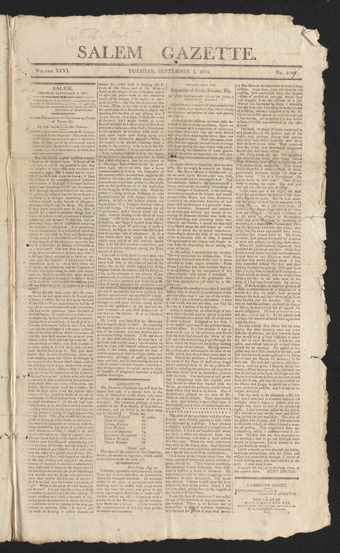 Salem Gazette, September 1, 1812