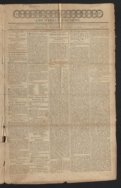 Constitutionalist and Weekly Magazine, August 4, 1812