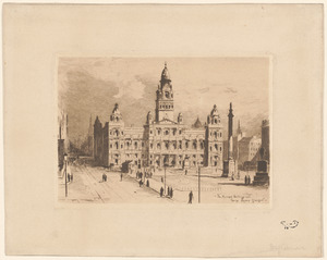 Municipal building and George Square, Glasgow