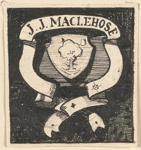 Alternative design for the bookplate of James J. MacLehose