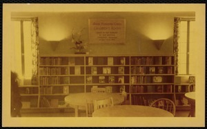 Newton Free Library branches & bookmobile. Newton, MA. Auburndale Library, interior