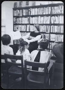 Newton Free Library branches & bookmobile. Newton, MA. Boys & Girls - interior