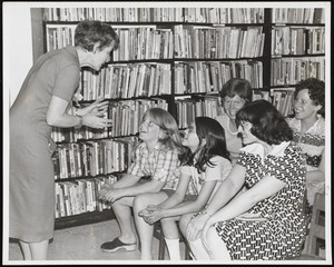 Newton Free Library branches & bookmobile. Newton, MA. Boys & Girls - story hour