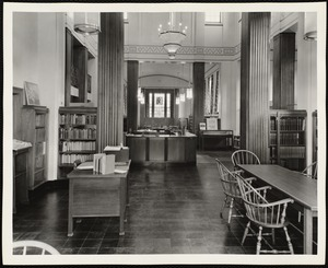 Newton Free Library branches & bookmobile. Newton, MA. Newtonville Library - interior