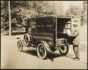 Newton Free Library branches & bookmobile. Newton, MA. Bookmobile