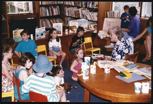 Newton Free Library, Newton, MA. Programs, patrons, staff. Auburndale reopens