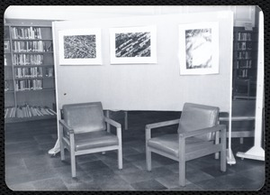 Main library, Junior Library, and branches. Newton, MA. Seating area