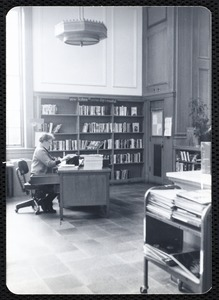 Main library, Junior Library, and branches. Newton, MA. Reader's advisor desk