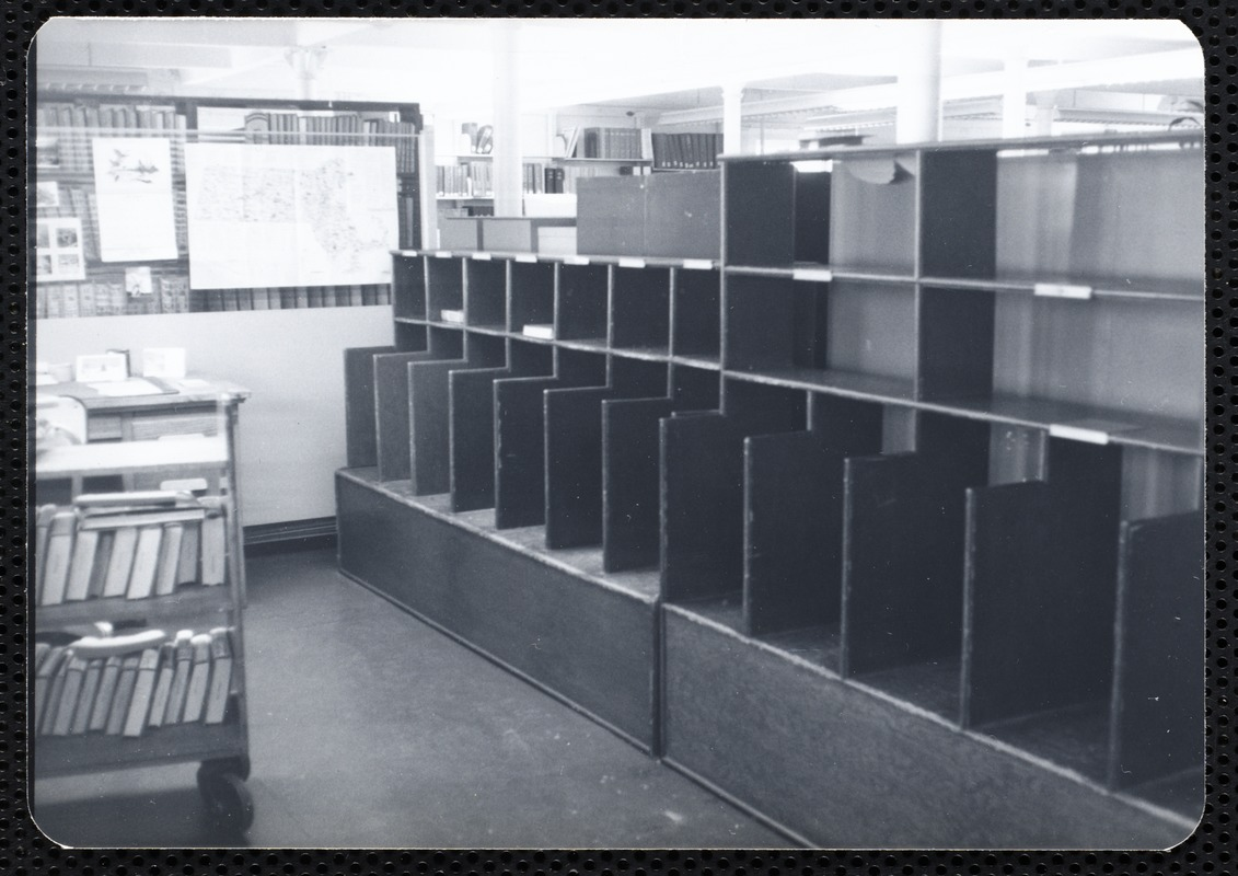 """Main library, Junior Library, and branches. Newton, MA. Branch room """"post office"""""""