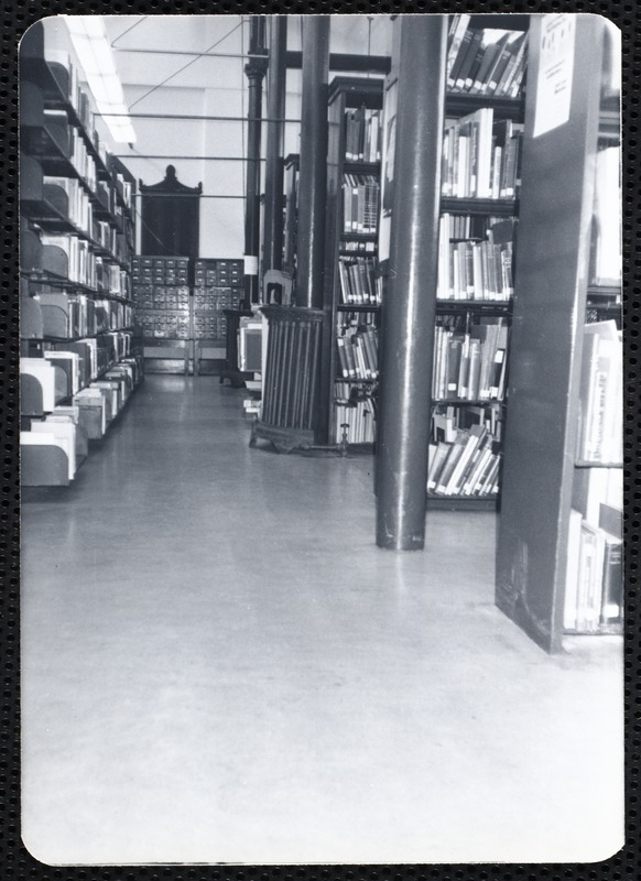 Main library, Junior Library, and branches. Newton, MA. Browsing area