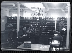 Main library, Junior Library, and branches. Newton, MA. Periodical Reading Room