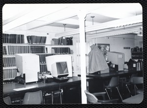 Main library, Junior Library, and branches. Newton, MA. Microfilm, microfiche machines