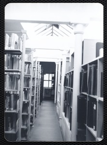 Main library, Junior Library, and branches. Newton, MA. Music stacks