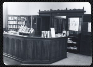 Newton Free Library, Newton, MA. Branch library. Auburndale. Circulation desk