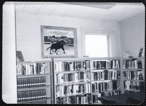 Newton Free Library, Newton, MA. Branch library. Newton Highlands, 20 Hartford St. Upstairs reading & meeting room