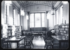 Newton Free Library, Newton, MA. Branch library. Newtonville. Reading room