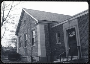 Newton Free Library, Newton, MA. Branch library. Nonantum. Exterior view