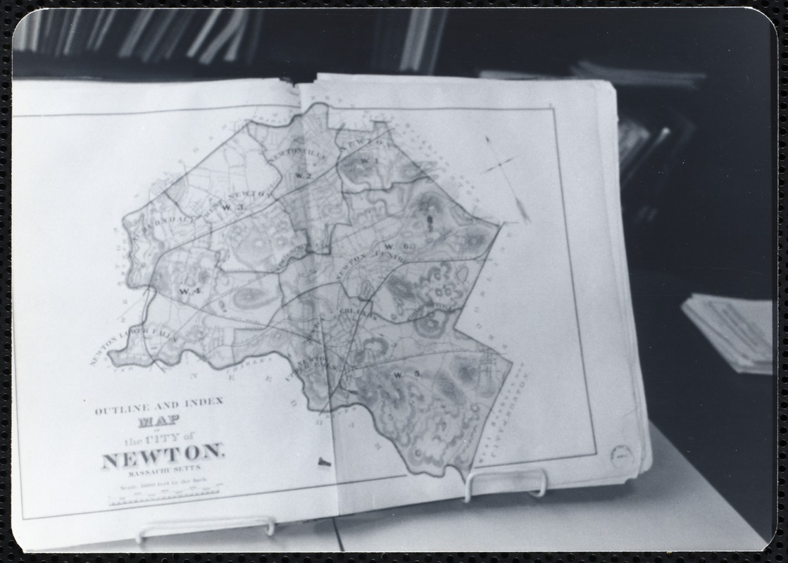 Newton Free Library, Newton, MA. Staff & trustees. Atlas - city map
