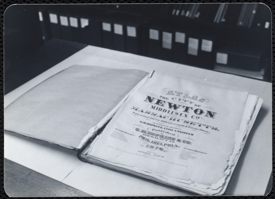 Newton Free Library, Newton, MA. Staff & trustees. Atlas - 187-