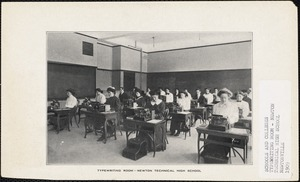 Typewriting Room, Newton Technical High
