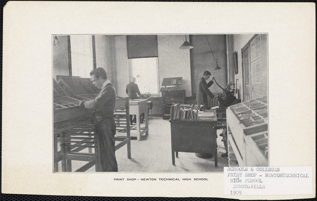 Print shop, Newton Technical High