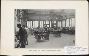 Wood-turning Shop, Newton Technical High