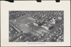 Airplane view of Claflin Field, Newton High School