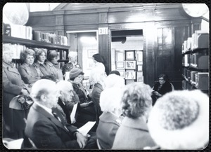 Newton Free Library, Newton, MA. Programs. Event: Celebration of Mass. Constitution's 200th year. Audience at event