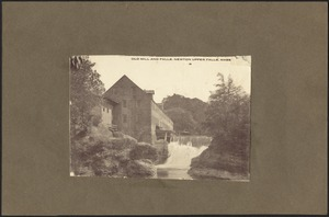 Newton photographs. Newton, MA. Site of old sawmill and falls, Newton Upper Falls