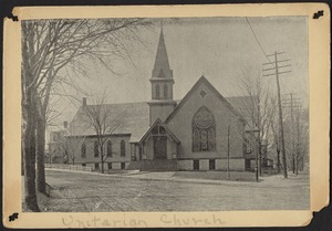 Newton photographs. Newton, MA. Unitarian Church