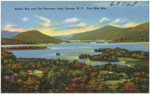 Bolton Bay and the Narrows, Lake George, N. Y. Five Mile Mts.