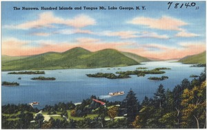The Narrows, Hundred Islands and Tongue Mt., Lake George, N. Y.