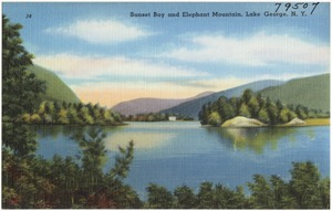 Sunset Bay and Elephant Mountain, Lake George, N. Y.