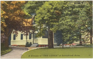 """A glimpse of """"The Lodge"""" at Sunnybrook Acres"""