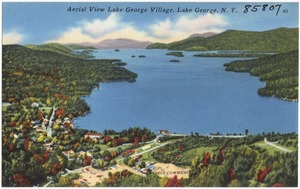 Aerial view Lake George Village, Lake George, N. Y.