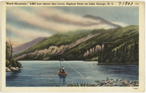 """""""Black Mountain,"""" 2,665 feet above sea level, highest point on Lake George, N. Y."""