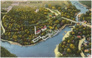 Air view: Lake Luzerne -- Hadley, N. Y.