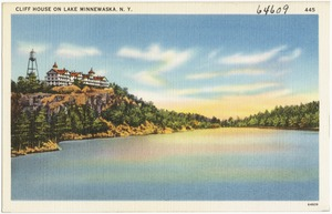 Cliff House on Lake Minnewaska, N. Y.